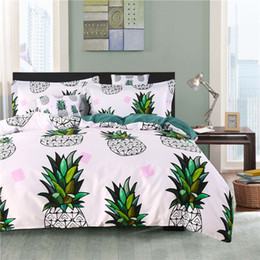 Wannaus 3D Bed Set Comforter Cover set High Quality Pineapples Printed 4-Piece 60s Cotton Duvet Covers set