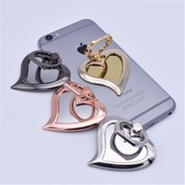 DHL Universal 360 Degree Mirror Heart Shape Finger Ring Holder stand bracket Phone Stand For iPhone 9 X 8 7 6s Samsung For Mobile Phones
