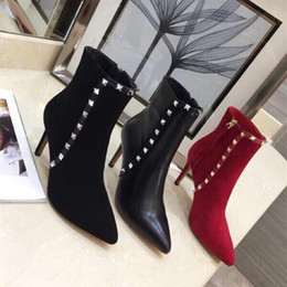 2018 Brand Fashion Luxury Designer Middle Tube Stiletto Superstar New 2018 Retros Thick Heel Boots Luxury High Heel Sock High Quality Boots
