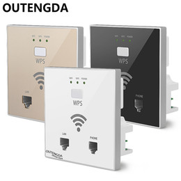 OUTENGDA 300Mbps in Wall WiFi Access Point Wireless Socket AP for Hotel WiFi Project Support AC Management RJ45 RJ11 WPS Encryption