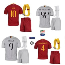 2017 19 Rome Home Away Third Soccer Jerseys Totti Dzeko Nainggolan Futbol Camisa As Football Camisetas Shirt Kit Maillot Roma Suit