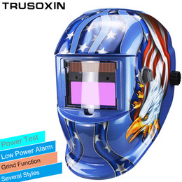 Solar LI battery automatic darkening TIG MIG MMA MAG KR KC electric welding mask helmets welder cap for welding machine