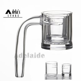 Flat Top Thick Bottom Quartz Banger Nail With 2 Cutted Inserts Bowl 10mm 14mm 18mm Male Female Glass Bong Dab Rigs 693