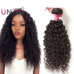 UNice Hair Brazilian Kinky Curly Wave 3 Bundles 100% Human Hair Extensions Brazilian Human Hair Weave Bundles Wholesale Cheap Bulk 8-26inch