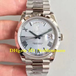 5 Style Luxury President Mens Day-Date II Platinum 228206 40mm Blue Dial Smooth Bezel CAL.3255 Automatic Movement Watches