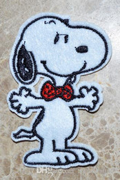 HOT SALE! ~ Free Shipping ~ Lovely Snoopy red tie Dog Iron On Patches, sew on patch,Appliques, Made of Cloth,100% Guaranteed Quality