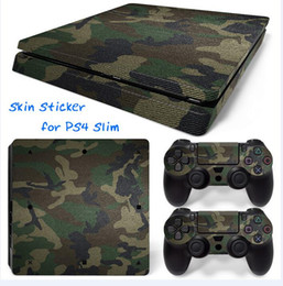 Cool Camouflage PS4 Slim Vinyl Skin Sticker Console Skin + 2 PCS Controller Cover Decal Skins For PS4 Slim