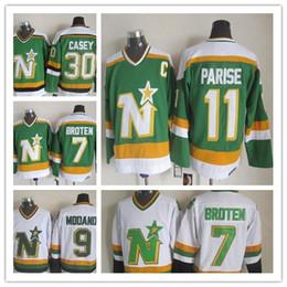 CCM Cheap Minnesota North Stars Neal Broten Mike Modano Dino Ciccarelli #1 Gump Worsley Brian Bellows 30 JON CASEY PARISE hockey jerseys