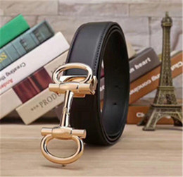 2018 Famous Brand Men realy Leather Belt Gold silver Smhooht Buckle Men High Quality Genuine Leather Designer Belts 4 Color Chose