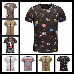 2018 Hot Italy Designer Polo Shirt T Shirts Luxury Brand Snake Bee Floral Embroidery Mens Polos High Street Fashion Horse