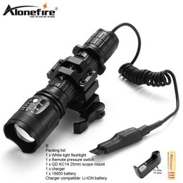 AloneFire TK400 Tactical light Torch CREE Zoomable LED flashlight XM-L2 hunting lights with remote pressure pad switch   mounts