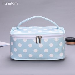 New Flamingo dot Printed Cosmetic Bag Women Makeup Bags Female Zipper Cosmetics Bag Portable Travel Make Up Pouch