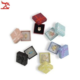 Wholesale 120 Pcs  lot Square Ring Earring Necklace Jewelry Box Gift Present Case Holder Set W334