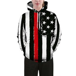 Autumn winter 2017 new black and white vertical stripes hooded 3D hoodie clothing