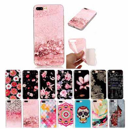 Fashion Marble Soft Tpu Skin Shell Rubber Case for iphone X 8 7 Plus Samsung S9 S9 Plus