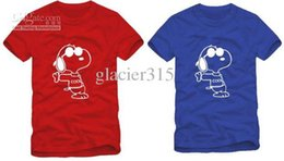 Free shipping high quality snoopy t-shirts cartoon dog couple tshirt snoopy t shirt 100% cotton 6 color