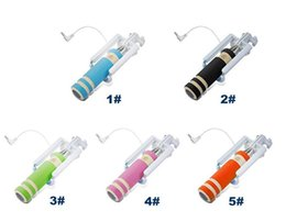 NEW Foldable Super Mini Wired Selfie Stick Handheld Extendable Monopod wired shutter Handle Compatible for cell phone