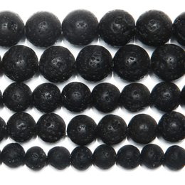 """8mm Natural Stone AA Quality Volcano Lava Round Loose Beads 15"""" Strand 4 6 8 10 12 14MM Pick Size For Jewelry Making"""
