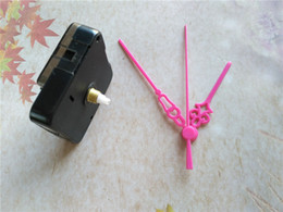 Wholesale 50PCS Lovely Pink Color Plastic Clock Arms with Quartz Clock Movements DIY Repair Tool Kits