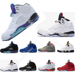 basketball shoes 5 Grapes Olympic Metallic Gold 5s white cement black metallic red blue suede Oreo Classic sneakers for women mens shoes
