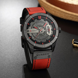 Relogio Masculino 2018 Men's Military Sport Quartz Watch Curren Watches Men Brand Luxury Leather Waterproof Wristwatch Man Clock
