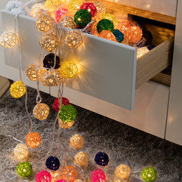 Wedding Courtyard Decoration LED Rattan Ball Battery Lamp 2 m 20 Lamp Christmas Decoration supplies