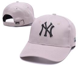 2018 Baseball Cap NY Embroidery Letter Sun Hats Adjustable Snapback Hip Hop Dance Hat Summer Outdoor Men Women White Black Navy Blue Visor