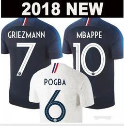 AAA Thailand GRIEZMANN MBAPPE POGBA soccer jerseys 2018 world cup shirts DEMBELE MARTIAL KANTE COMAN jerseys football GIROUD Maillot de foot