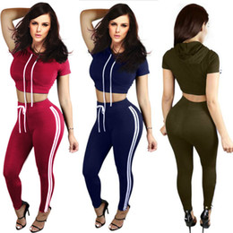 Women Summer Jumpsuit Fashion Sexy Ladies Women Short Sleeve Crop Top High Waist Pants Two Piece Playsuits Sets Casual Tracksuits Yoga suit