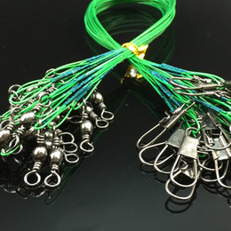 100Pcs 16 18 22 24 28cm Fishing Lines Tensile Anti-bite Steel Wire Fishing Line Stainless Steel Pin Ring Pesca Fishing Tackle Accessories