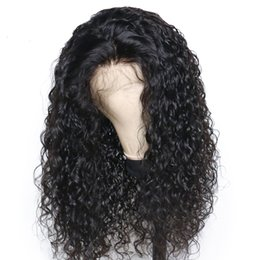 Long Bob Curly 150% Density Brazilian Remy Hair 13x6 Lace Front Human Hair Wigs Pre Plucked With Baby Hair Bleached Knots Full Lace wig