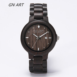 GNART059H New Style Man Wooden Quartz Wrist Watches for Christmas Gift