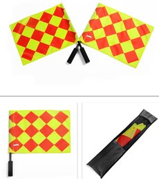 1pairs Soccer Referee Flag with Bag Football Judge Sideline Sports Match soccer Linesman Flags Referee