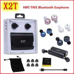HIFI TWS Earphone Twins Mini X2T Wireless Earbuds Bluetooth Headphone Headsets with 1500mAh Fast Charger Box