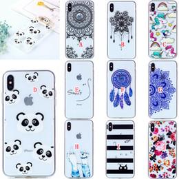 Flower Cartoon Soft TPU Case For Iphone X XS MAX XR Xiaomi Redmi NOTE 6 PRO 6A Samsung Galaxy J3 2018 J7 J8 Unicorn Mandala Smile Skin Cover