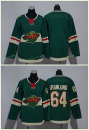Minnesota Wild 64 Mikael Granlund Jerseys Blank Green All Stiched Hockey Jersey Men Women Youth Kids Boy Girls