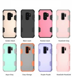 3 in 1 Heavy Duty Armor Hybrid PC+ Silicone shookproof for iPhone X XS XR XS MAX 6 7 8 Plus Galaxy S8 S8 PLUS S9 S9 PLUS NOTE 8 NOTE 9 50PCS