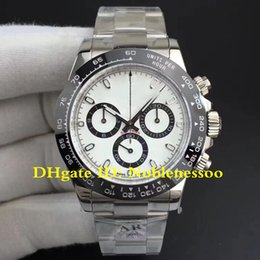 5 Style AR Factory New V2 Version 904L Steel Luxury White Ceramic Bezel 116500LN 116500 Swiss CAL.4130 Movement Chronograph Watch Watches
