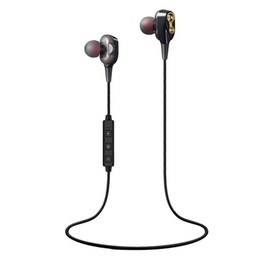 Sport bluetooth earphone double dynamic headphone wireless earphones for phone with mic bluetooth wireless headset V4.1 bass