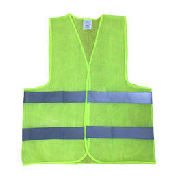 Plus Size L-4XL 60g Reflective Vest Working Clothes Provides High Visibility Day Night For Running Cycling Warning Safety vest