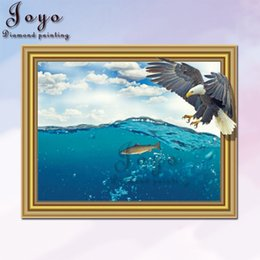 Joyo DIY Diamond painting new product, new design, eagle foraging 40*50 and 30*40, detailed dynamic details