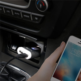 Metal USB Car Charger, Mini Rapid Dual USB Car Charger, Portable Adapter Car Cigarette Charger for iPhone iPad Samsung Smartphones - Gray