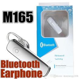 M165 Hot Wireless Stereo Bluetooth Headset Earphone mini wireless bluetooth handfree universal for all phone P-EJ