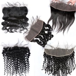 XBL Silky Straight Lace Frontal Human Hair Closure Free Middle Three Part Lace Frontal Within Lace Size 13*4.5