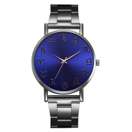 Estudiante ultrafino Special Ladies Steel Belt Watch Caliente personalidad Blue Mirror Fashion Wild Classic Ladies Watch