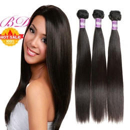BD Hair Brazilian Body Wave Straight Loose Wave Human Hair Bundles Double Weft Unprocessed Virgin Human Hair Extension Natural Color Deals