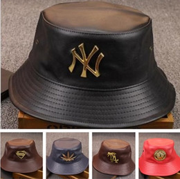 Fashion Designer Leather Letter Bucket Hat For Mens Womens Foldable Fishing Caps Black Fisherman Beach Sun Visor Sale Folding Man Bowler Cap