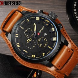 Curren 8225 Armée Militaire Quartz Hommes Montres Top Marque De Lujo En Cuir Montre Homme Casual Sport Homme Horloge Montre