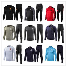18 19 Liga de Campeones Traje de entrenamiento de la chaqueta de Paris Jordam Survetement 2019 Jordam X PSG Equipo de fútbol MBAPPE chaquetas de fútbol chándal