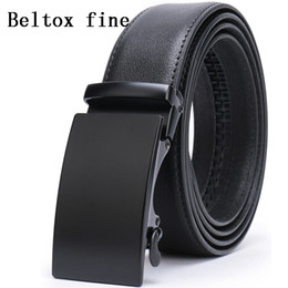 Men's Automatic Buckle Belts for Men,Slide Ratchet Belt with Genuine Leather 1 3 8 Big and Tall ceinture Classic ceinture homme